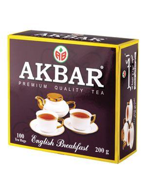 Чай Akbar ENGLISH BREAKFAST 100 пак.*2 г с/я (12)