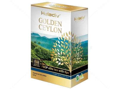 Черный плантационный чай Heladiv Golden Ceylon FBOP Elite Tea With Tips 100гр